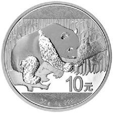 Cina - 10 Yuan 2016-PANDA-IMPIANTO moneta - 30 GR ARGENTO ST