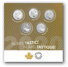 2020 Canada Numistastic 5 x 25 cent set - 5 different finishes - IN STOCK!