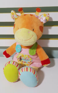 RUSS BERRIE BABIES LOVE TO LEARN ORANGE GIRAFFE LEARN TO DRESS YOURSELF 36CM TOY