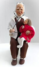 Rare One Of A Kind Dorit Doctor & Little Girl Doll Sitting On Rocking Chair