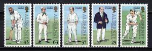 SELLOS OFERTA!!!  ALDERNEY 1996 5v, Cricket 1947-1997 5v.