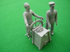 Ships Two Man Crew with Ships Wheel.  model boat fittings