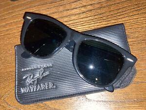 Vintage Bausch Lomb Ray-Ban Wayfarer 2 B&L Black Sunglasses BL 54mm BL Atomic
