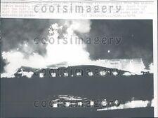 1962 Horrific Fire Manitowoc Wisconsin Press Photo