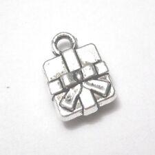 10 pieces 8x11mm Tibetan Silver Christmas Box Alloy Charm Pendants - A2331