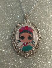 Silver Charm Necklace Pendant LOL L.O.L Surprise Doll Coconut Q.T Cutie