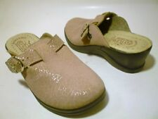 FLY FLOT Sz 5 (35 Eur) Pale Pink Leather Comfort Clog Ladies Womens Shoes