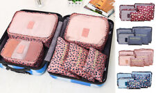 Travel Set Of Six Organisers Suitcase Storage Bags Perfect For Plane Travel