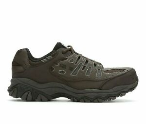 Skechers Men's Crankton Steel Toe Safety Work Relax Fit Shoes 77055 Brown