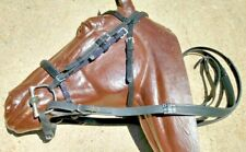 Nylon Race Bridle~Headstall,Chin Strap,Noseband,Reins,Dee- Bit~Black-Horse Racing