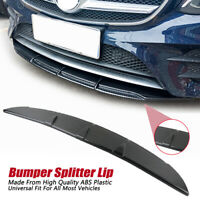 Car Universal Carbon Fiber SpoilerFront Bumper Splitter Diffuser Lip Body Kit