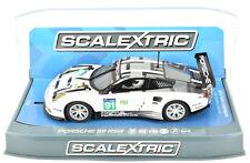Scalextric Porsche 911 RSR - 2016 24h LeMans DPR W/ Lights 1/32 Slot Car C3944