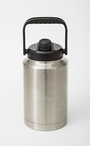 84/128OZ ONE OR HALF GALLON INSULATED STAINLESS STEEL WATER JUG BEER GROWLER LID