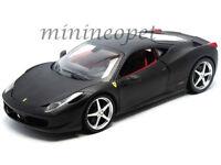 HOT WHEELS T6921 FERRARI 458 ITALIA COUPE 1/18 DIECAST MODEL MATTE BLACK