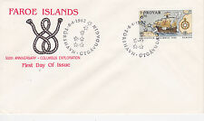 1992 500th ANNIVERSARY OF CHRISTOPHER COLUMBUS EXPLORATION FDC - FAROE ISLANDS