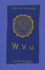 1910s S25 tobacco / cigarette / college silk  UNIVERSITY OF WEST VIRGINIA - NICE