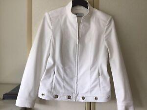 Smart Vintage Designer BASLER White Jacket Size UK 12