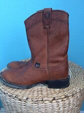Women's Justin J Flex #L4608 Sz 8B 7.5 Brown Leather Cowboy Boots