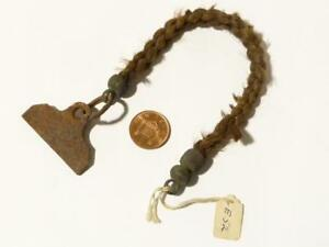 19thC  Mourning Hair Pocket Watch Chain Plaited Braided Hair Roods Perch Fob