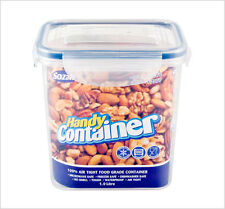 Clip Lock Airtight Tall Kitchen Food Storage Container Plastic Box 1 Litre ZOOM
