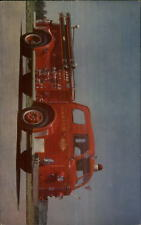 American LaFrance Fire Engine MARION - Which State? C1950s Postcard