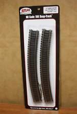 "ATLAS HO SCALE 24"" RADIUS TRACK  (6 per pack) Nickel Silver Code 100"