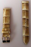 Elysee hochwertiges Uhrenband Uhrenarmband Leder  Schließe IP Gold 18mm E231
