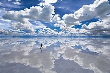 Epoch Jigsaw puzzle Uyuni salt lake Bolivia 1500 small pieces from Japan*