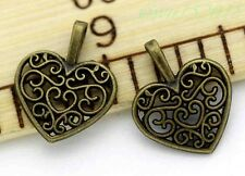 Tibetan silver jewelry finding charm pendant Heart-shaped 30-500pcs 17*14mm 0.8g
