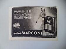 advertising Pubblicità 1941 RADIO MARCONI RADIOGRAMMOFONO MOD. 1562