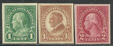 U.S. Stamps Scott 575, 576, & 577 - Imperforate issues of 1923-25 - mnh set #19