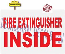 Semi Fire Extinguisher Inside Kenworth Peterbuilt Mack Decal Sticker Red