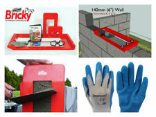 bricky professional wall building tool kit + dvd + gloves