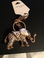 What A Creative And Breathtaking Detailed White Elephant Keychain