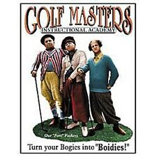 The Three Stooges Golf Masters Tin Sign Reproduction