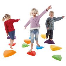 Fluss-Steine-Set für Kinder, Balance Spiel, Balancierspiel, Koordination, 6-tlg.