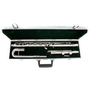 Pearl Bass Flute - PFB-305E | Silver Plated Body + headjoint | Split E-mechanism