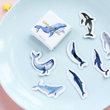45 PCs/Set Decoration Blue Whale Fish Scrapbooking Paper Seal Sticker Label