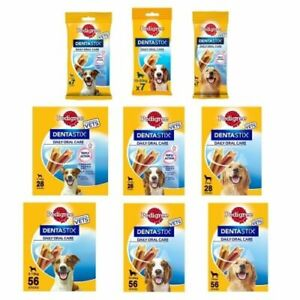 Pedigree Dentastix Daily Dental Oral Care for Dogs S,M & Large - Chew Stick Bags