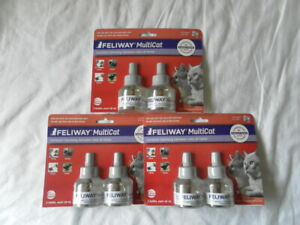 AUTH NEW FELIWAY MULTICAT CONSTANT HARMONY BETWEEN CATS AT HOME SET 3 BAGS