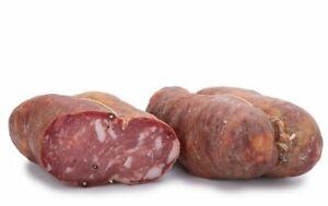 400 Gr Soppressata Redondeado De Faeto Dulce O Picante Pugliese Salami Italiano