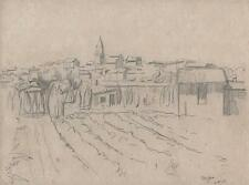 FREJUS FRANCE LANDSCAPE Drawing 1925 WALTER SICKERT Pupil FRANK GRIFFITH