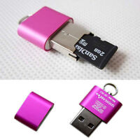 New USB 2.0 High Speed Mini Micro SD TF T-Flash Memory Card Reader Adapter Pink