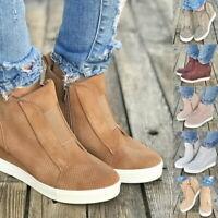Damen Schuhe Keilabsatz Sneaker Wedges Plateau Stiefeletten Sportschuhe Loafer