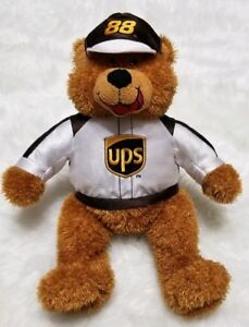 Nascar Dale Jarret #88 Plush UPS Bear Stuffed Animal Collectible Sugar Loaf