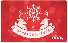 Merry Christmas eBay Digital Gift Card - $25 to $200 - Email Delivery