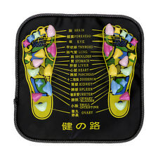 Chinese Reflexology Walk Stone Foot Leg Massager Mat Health Care Acupressure New