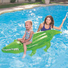 Bestway Inflatable Crocodile Rider Float Swimming Pool Fun Kids Toy 1.68m x 89cm
