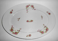 Austria Victoria China Porcelain Pink Roses Large Platter