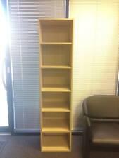 Adjustable wooden shelving unit, cupboard door bookshelf CDs DVDs books home use